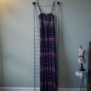 Long Red, White and Blue Long Sundress